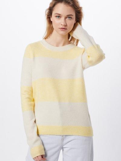 VERO MODA Pullover 'VMPLEASENT' in creme / gelb, Modelansicht