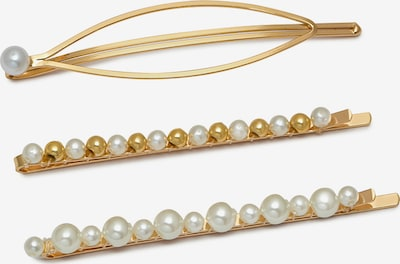Estella Bartlett Hair jewelry 'Pearl Trio' in gold / pearl white, Item view