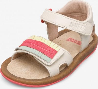 CAMPER Sandalen 'Twins' in creme / gelb / pastellgrün, Produktansicht