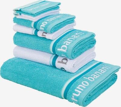 BRUNO BANANI Handtuch Set in türkis / weiß, Produktansicht