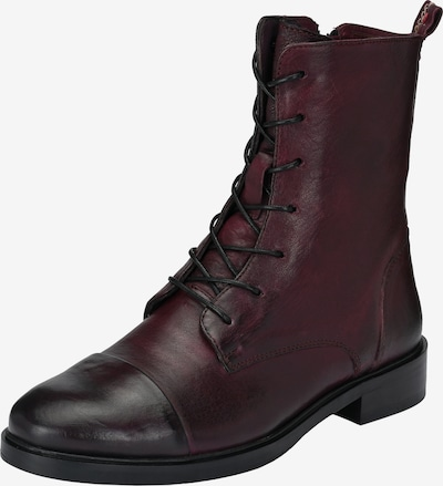 Crickit Schnürstiefel in Used-Optik in bordeaux, Produktansicht
