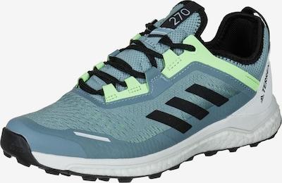 ADIDAS PERFORMANCE Chaussure de course 'Terrex Agravic Flow Trail' en bleu pastel / vert fluo / noir / blanc, Vue avec produit