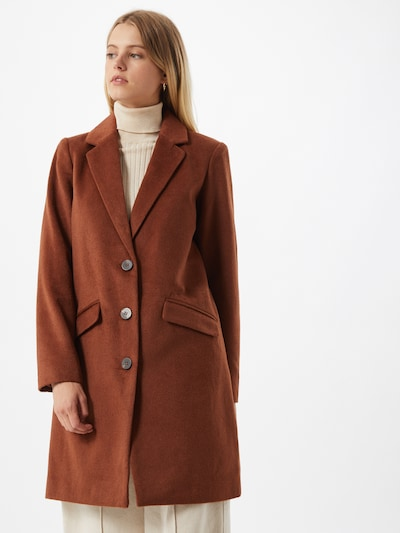 Demisezoninis paltas iš VILA , spalva - rusva, Modelio vaizdas
