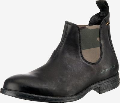 REPLAY Chelsea boots 'Hartfile' in de kleur Kaki / Zwart, Productweergave