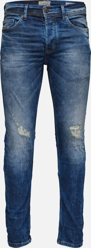 Only & Sons Slim Fit Jeans Loom med blue breaks