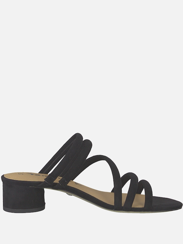 TAMARIS Sandale 'Strappy Mule' in schwarz   ABOUT YOU