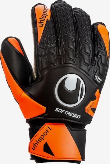 UHLSPORT Torwarthandschuhe 'Soft Resist Flex Frame' in orange / schwarz, Produktansicht