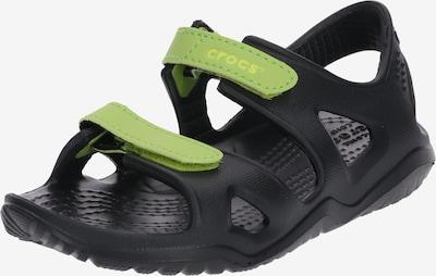 Crocs Schuhe 'Swiftwater River' in neongrün / schwarz, Produktansicht