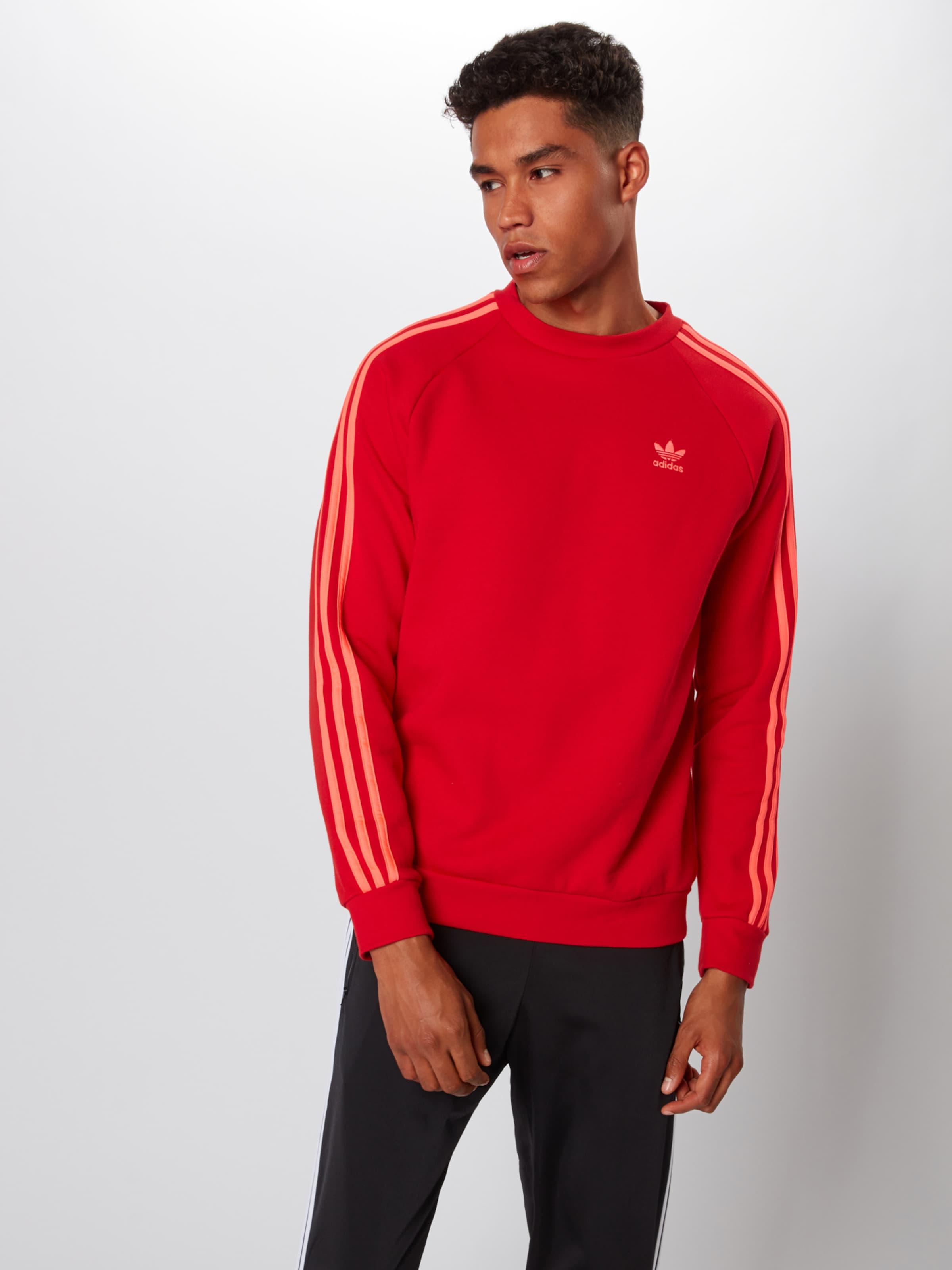 Sweat Rouge Adidas '3 En stripes' Originals shirt txhdCrsBQ