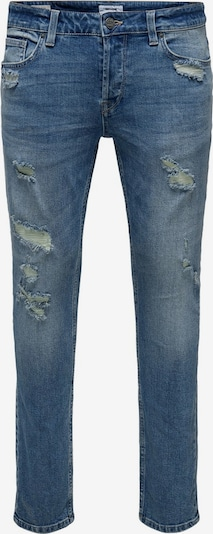 Only & Sons ONSLoom Light Blue Slim Fit Jeans in blau, Produktansicht