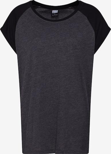Urban Classics Curvy T-Shirt in dunkelgrau / schwarz, Produktansicht