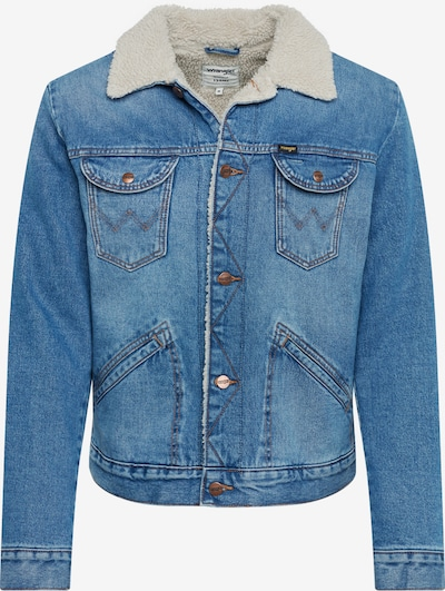 WRANGLER Jacke '124MJ SHERPA' in blue denim, Produktansicht