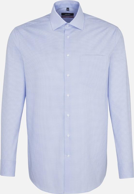 SEIDENSTICKER Hemd 'Modern' in rauchblau   weiß  Große Preissenkung