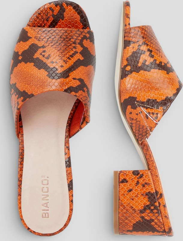 Bianco Offene Zehenpartie Mules Verschleißfeste billige Schuhe