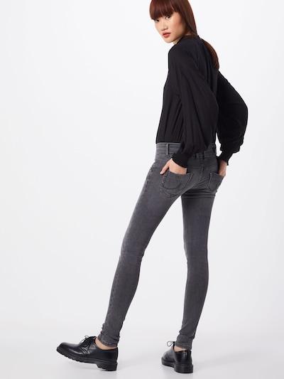 Džinsai 'JULITA X' iš LTB , spalva - pilko džinso: Vaizdas iš galinės pusės