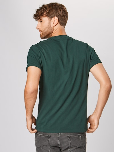 Iriedaily Shirt 'Stay Yeti Tee' in de kleur Donkergroen: Achteraanzicht