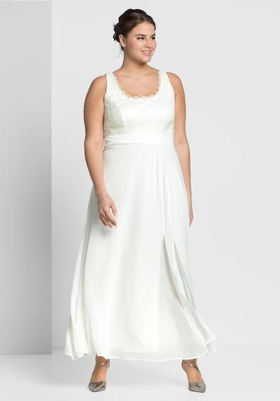 SHEEGO Večerné šaty - šedobiela, Model/-ka