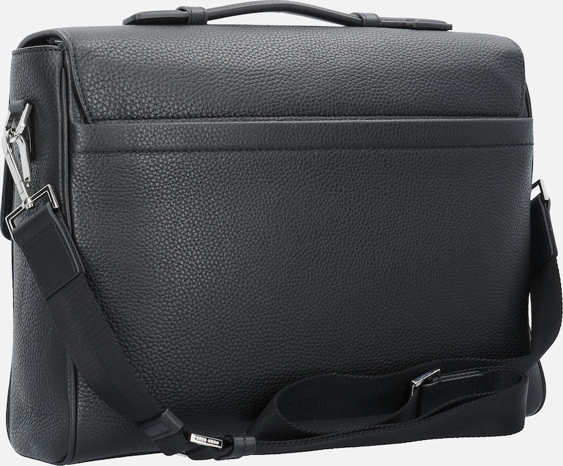 BOSS Traveller Messenger Aktentasche Leder 39 cm