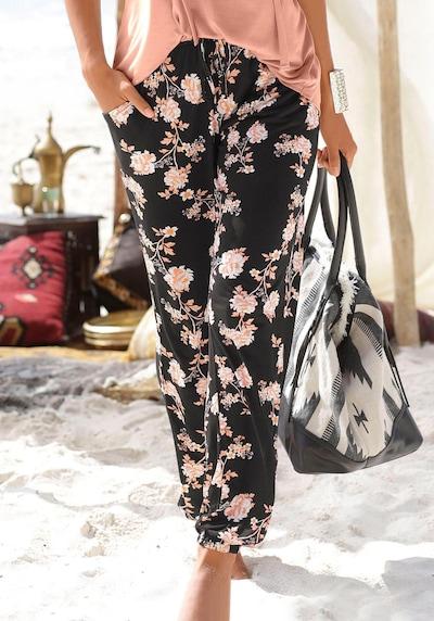 LASCANA Strandhose in rosa / schwarz, Modelansicht