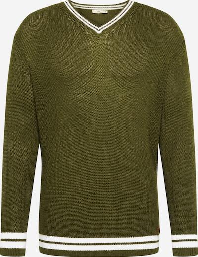 LTB Sweter 'JOLAMI' w kolorze zielony / białym, Podgląd produktu