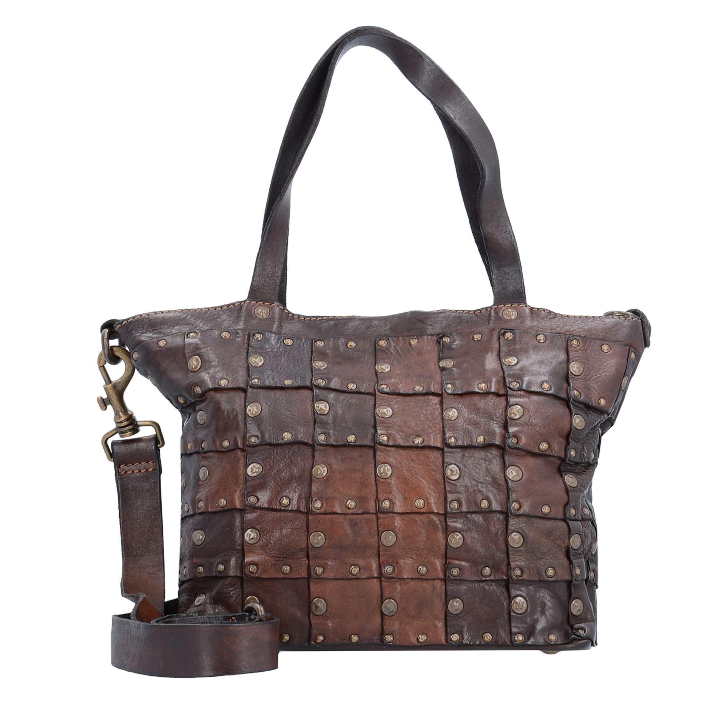 Online Shop Campomaggi Rivetti Vacch Handtasche Leder 26 cm Billig Verkauf 100% Garantiert Original zeTH9B