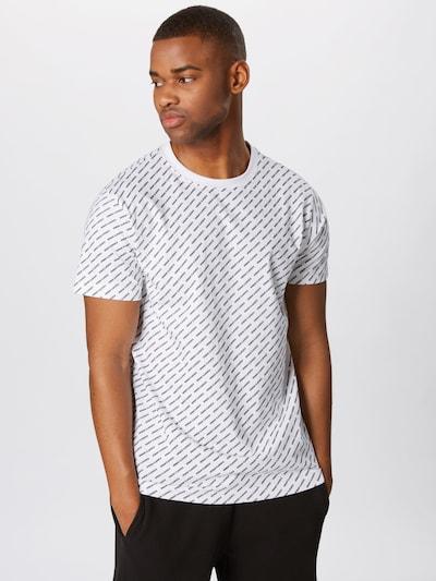 fekete / fehér Urban Classics Póló 'Allover Logo Tee', Termék nézet
