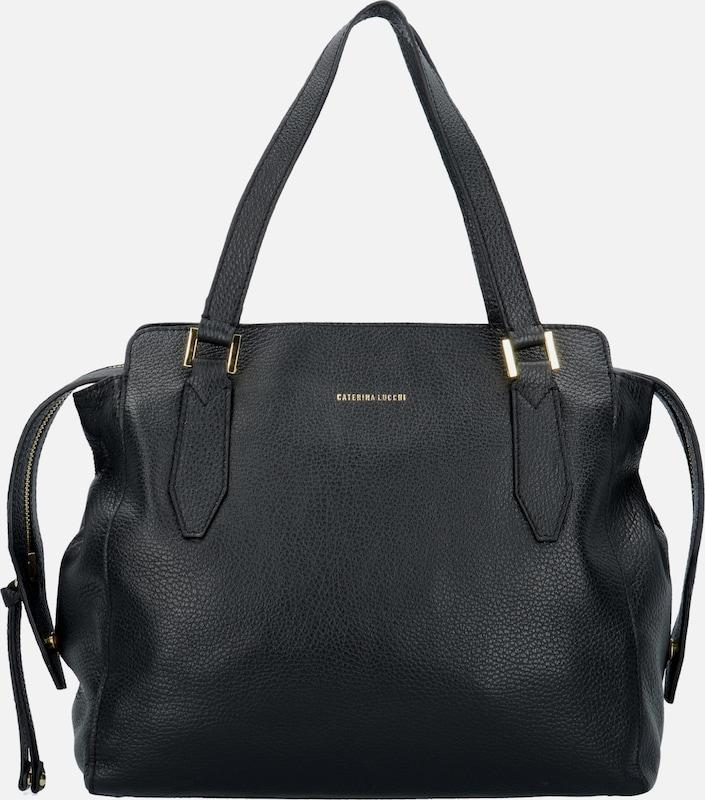 Caterina Lucchi Dollaro Shopper Tasche Leder 30 cm
