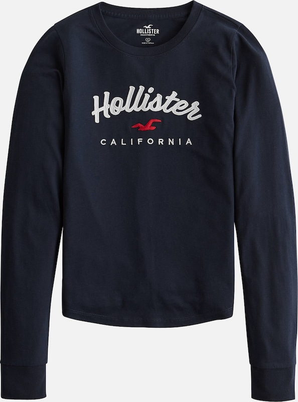 HOLLISTER Sweatshirt 'XM19-DTC LS CLASSIC TIMELESS TECH 6CC' in de kleur Navy, Productweergave