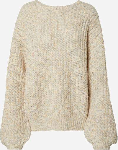 NA-KD Pullover 'deep neck melange sweater' in beige, Produktansicht