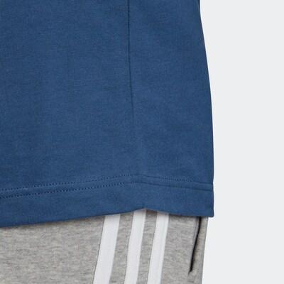 ADIDAS ORIGINALS 3-Streifen Tee Adicolor Sportmode T-Shirt in blau / weiß: Frontalansicht