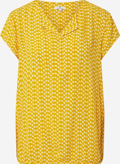 TOM TAILOR Bluse in gelb / offwhite, Produktansicht