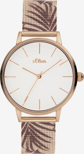 s.Oliver Uhr in beige / braun / weiß, Produktansicht