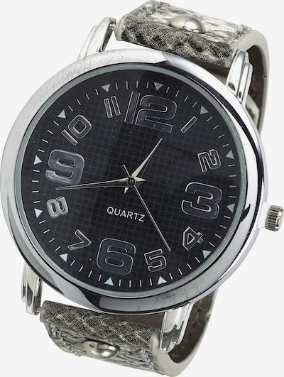 heine Armbanduhr in grau / schwarz, Produktansicht