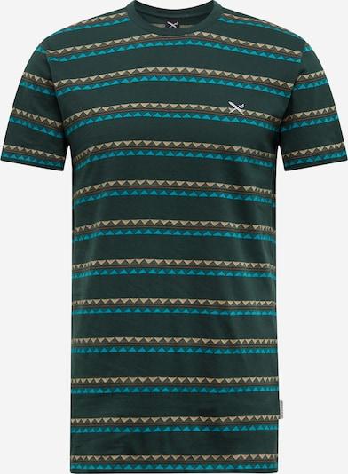 Iriedaily Shirt 'Monte Noe Jaque' in petrol / dunkelgrün / orange, Produktansicht
