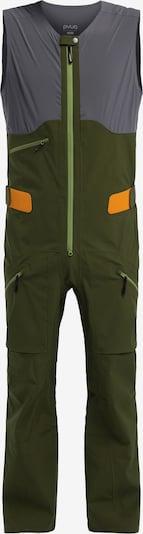 PYUA Sportbroek 'Continuum-Y' in de kleur Donkergrijs / Donkergroen, Productweergave