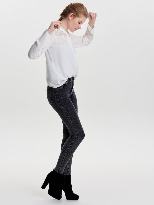JACQUELINE de YONG Spitzen Oberteil mit langen Ärmeln