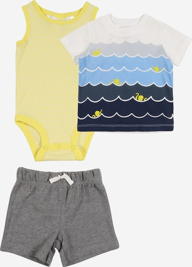 Carter's Set en bleu / jaune / gris, Vue avec produit