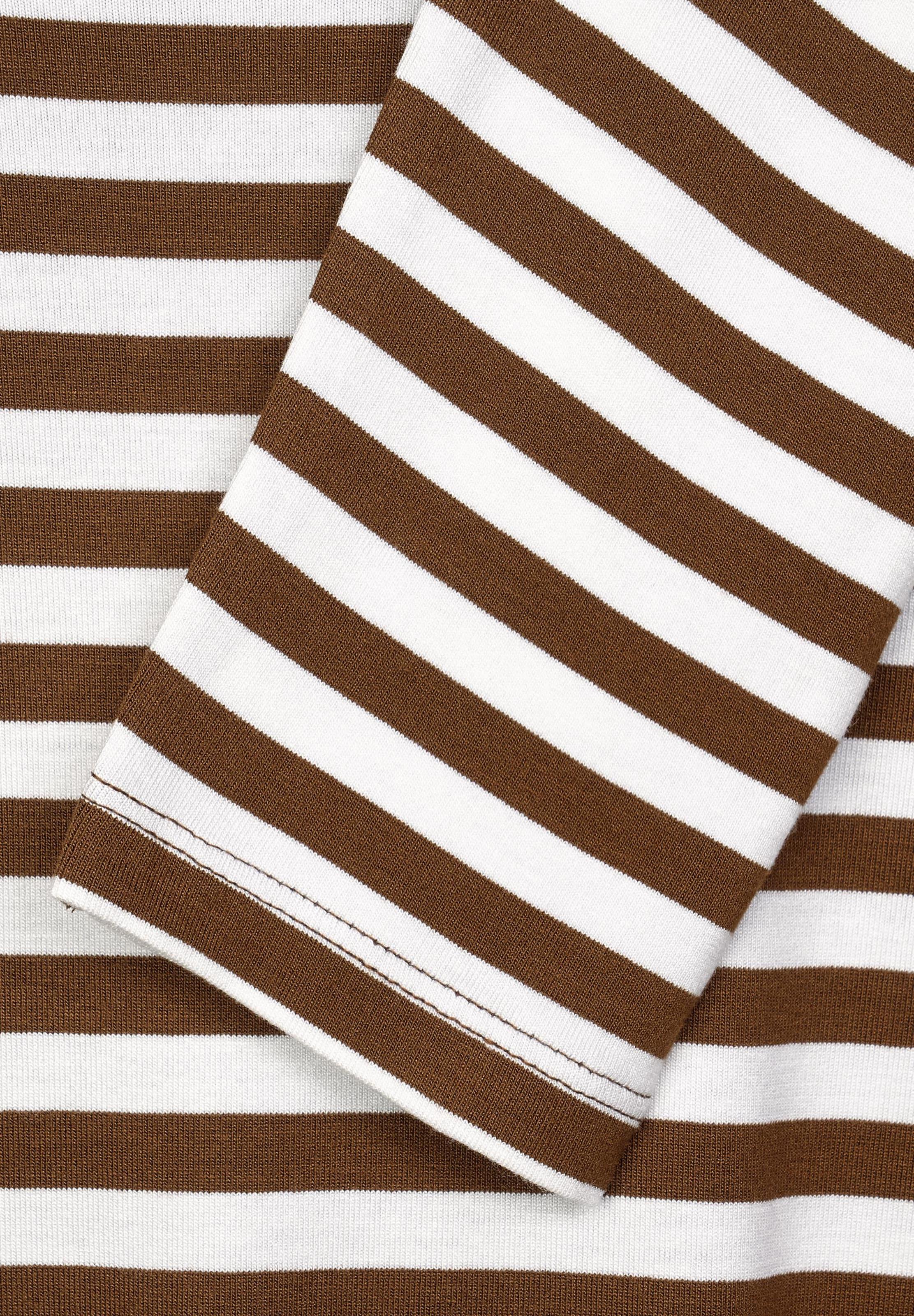 CECIL Shirt in hellbraun / weiß