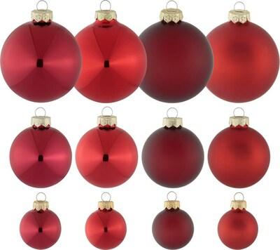 MY HOME my home Weihnachtsbaumkugel in rot, Produktansicht