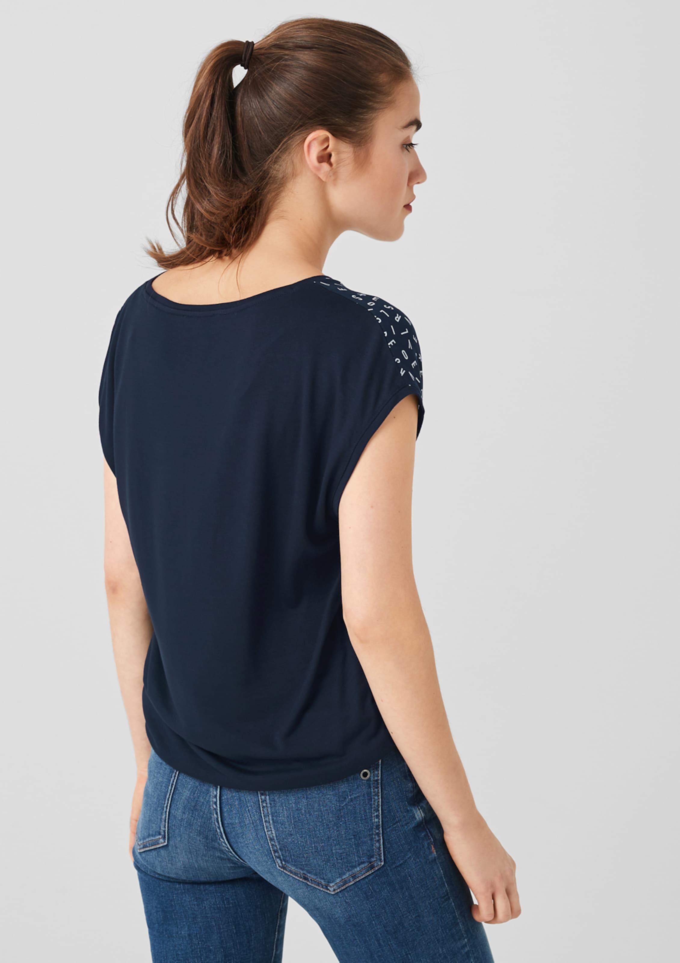 S oliver oliver NachtblauWeiß S In Shirt qUVpSMz