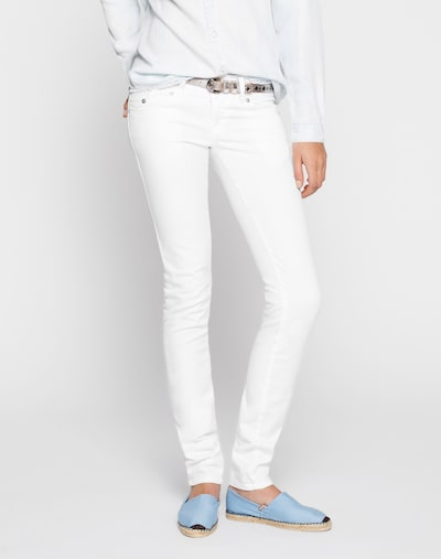 LTB Stretchige Skinny Jeans 'Molly' in weiß, Modelansicht
