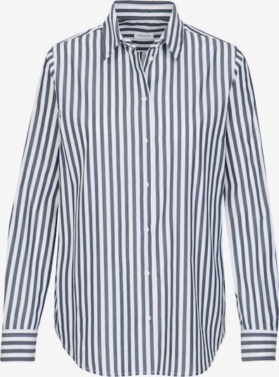 SEIDENSTICKER Hemdbluse 'Schwarze Rose' in navy / weiß, Produktansicht