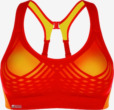 SHOCK ABSORBER Sport-BH 'FLY Sport' in gelb / grenadine, Produktansicht