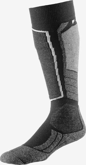 FALKE Chaussettes de sport 'SK 2' en graphite / noir, Vue avec produit