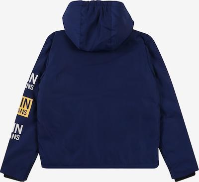 Calvin Klein Jeans Winterjas 'STAMP LOGO HOODED SH' in de kleur Blauw: Achteraanzicht