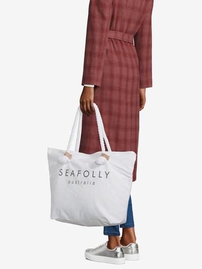 Seafolly Strandtas in de kleur Wit, Modelweergave