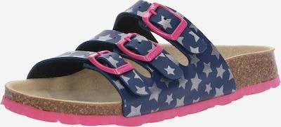 SUPERFIT Sandales en bleu foncé / rose / argent, Vue avec produit