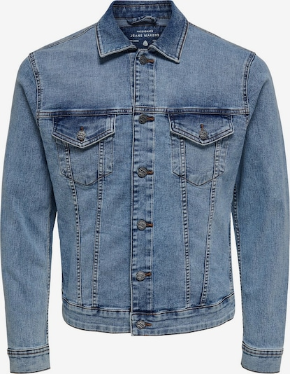 Only & Sons Kurze Jeansjacke in blue denim, Produktansicht