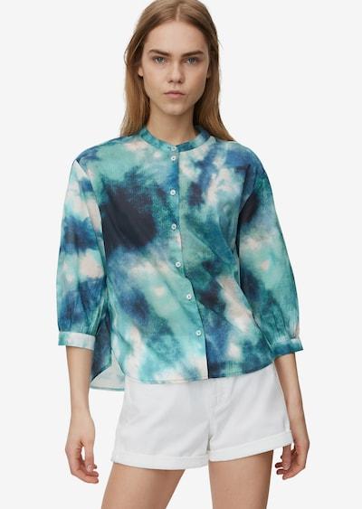 Marc O'Polo DENIM Bluse in blau / mischfarben, Modelansicht