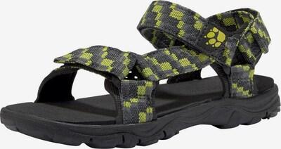 JACK WOLFSKIN Sandale 'Seven Seas' in dunkelgrau / limette / schwarz, Produktansicht